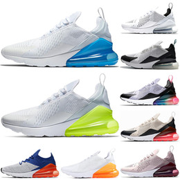 new arrival f26bc 522d3 Nike Air Max 270 Mens Laufschuhe TRUE White Volt Triple Weiß Schwarz Hot  Punch Teal Frauen Turnschuhe Sport Turnschuhe Größe 36-45 günstige maximale  größe