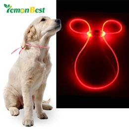 Wholesale Red Light Products - LemonBest LED Light Up Dog Pet Teddy Puppy Cat Night Safety Bright Luminous Adjustable Portable Collar Leash Products
