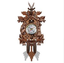 Orologio a cucù Orologio sveglia a cucù Orologio a sospensione in legno Tempo per casa ristorante Decorazione unicorno Art Vintage Altalena da