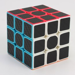 Wholesale Carbon Fiber Cube - New Design Carbon Fiber Smooth Hand Spinner Magic Speed Cubes Magic Square Puzzle Adult and Children Educational Toys