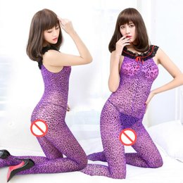 158a14cef14 Lace Bodysuit Women Sexy Sleeveless body mujer Skinny Rompers Womens  Jumpsuit Summer Purple Leopard Print Bodysuits femme