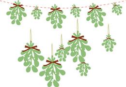 ornements de noël uniques Promotion Guirlande de Noël Guirlande de Noël à suspendre Décoration Ornement de Noël Cadeau Unique