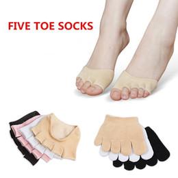 Meio slips para mulheres on-line-2018 novas mulheres de verão invisível toe meias de algodão antiderrapante meia aderência calcanhar cinco dedo meias