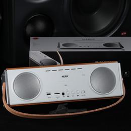 Accesorios de juegos Altavoces inalámbricos Batería Bluetooth 4.1 + EDR 3600mAh Estuche de madera Heavy Bass Portátil con mango de cuero 20W Subwoofer desde fabricantes