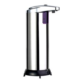 Wholesale Touchless Liquid Soap Dispensers - New 280ML Stainless Steel IR Sensor Touchless Automatic Liquid Soap Dispenser for Kitchen Bathroom Home Black