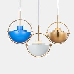 Wholesale Metal Hanging Lamp - Nordic Creative Metal Gold Pendant Light Multi GUBI Pendant Lamp Kitchen Living Room Hanging Lamp Light Fixtures Home Lighting