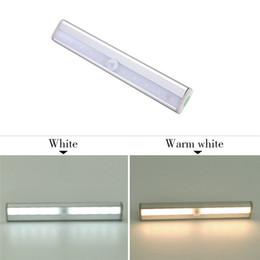Wholesale Ir Sensor Bulb - LED Bulbs IR Infrared Motion Detector Sensor Closet Cabinet Wardrobe Emergency Light Lamp Wireless Dry battery lights CE,RoHS Certificated