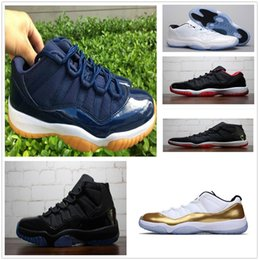 Wholesale Gamma Band - 2018 man basketball shoes 11 Gym Red Chicago Midnight Navy white Olympic Concord Gamma Blue Varsity Red Navy Gum Sport Sneaker