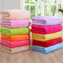 Wholesale pets carpet - Kids Blanket Air Conditioning blanket Comfortable Carpet Rugs Soft Pet Pad Beach Towel Small blankets Gift 70x100cm.