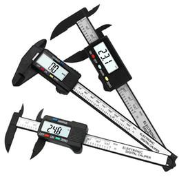 Micrometro in lcd online-Strumento di misura micrometrico elettronico digitale calibro a corsoio in fibra di carbonio digitale LCD