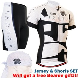 Wholesale Army Bike Jersey - Wholesale-2017 zipper up summer cycling jersey sets breathable bike wear quality riding suits black and white short sleeve tops+shorts