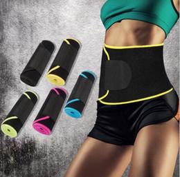 Wholesale Waist Slimming Bands - Slimming Waist Training Belt Warm Body Shaper Corset Yoga Fitness Tight Shaper Belt Waist Belly Band 5 Colors LJJO4095