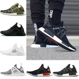Wholesale Fishing Rubbers - 2018 NMD XR1 Shoes MMJ Mens Running shoes nmds Camo Duck olive green Primeknit Women Sport Outdoor Sneakers Eur 36-45