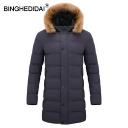 0f0bab69d2ff Winddichte Jacke Mantel lange Männer Mantel Winter Jacke Pelz Puffer  gesteppte Winter warme Baumwolle Parka Mens Men