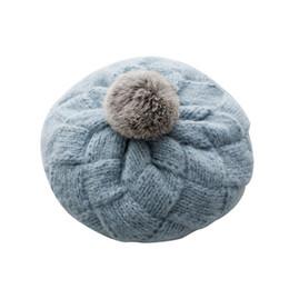 28c6d7085ab79 boina moda coreana Desconto Mulher Inverno Versão Coreana Moda Malha De Lã  Chapéu Damp Inverno Quente