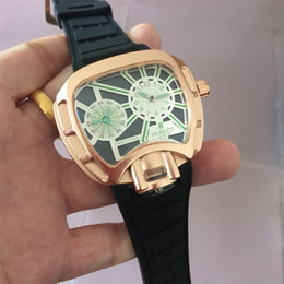 Wholesale Dual Time Display Watches - 2017 New Quartz Watch hbl Men Casual Men's Quartz Watches Golden Sport Russian Army Military Watch Man Dual Time Zone Display Clock Man