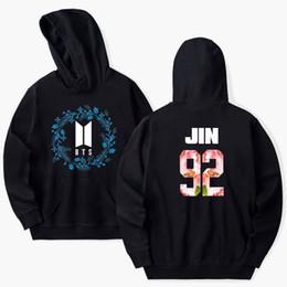 Wholesale L Idol - BTS Kpop Hoodie Sweatshirt Bangtan Boys LOVE YOURSEL Women Men Sweatshirt Fashion Idol Jimin Casual Jumper 4XL