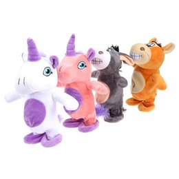 Wholesale Plush Hippo - Electronic Talking Donkey Cows Plush Toy Cute Speak Music and Walk Dolls Pets Plush Toys for Children Baby Speakking Animals Toy
