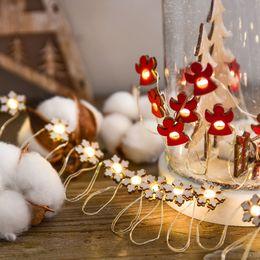 2 m 20 lámpara Árbol de Navidad Led Alambre de cobre Mini Cadena ligera Bola Bombilla Lámpara Cadena Lámparas decorativas al aire libre Luces de Navidad desde fabricantes