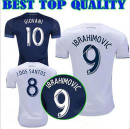7d5baca7b LA Los Angeles Galaxy 9 Zlantan Ibrahimovic Jersey Soccer Football Kits 7 KEANE  8 GERRARD 10 GIOVANI 11 ZARDES JUNINHO GONZALEZ White Blue
