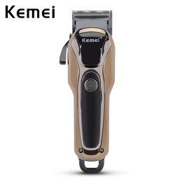 Wholesale Hair Cutting Shavers - Kemei Professional Electric Hair Clipper Rechargeable Men's Hair Trimmer Beard Cutter Hairstyle Shaver Cutting Machine EU Plug