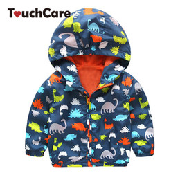 Wholesale coat clearance - Clearance Fashion Baby Boy Jackets Softshell Hooded Animal Printed Baby Coat Outerwear Kids Spring Autumn Children Clothing