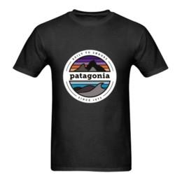 Tees imprimés 5xl en Ligne-Nouveau -patagonia-shirt-logo - T-Shirt Taille-S à 5XL été Vente chaude Nouveau Tee Imprimer Hommes T-Shirt Top 100% coton casual