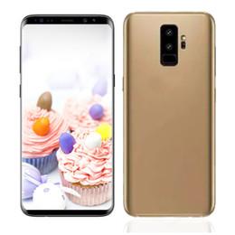 Wholesale Chinese Wholesale Smartphones - 6.2inch Goophone S9 plus MT6580P Quad Core cell phones MT6580P 1GB RAM 16GB ROM unlocked Smartphones with sealed box
