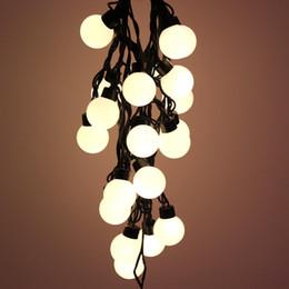 Esfera de luz de navidad online-4.8 m LED luces de cadena al aire libre 20 bolas de hadas guirnalda a prueba de agua lámpara esfera sólida luz fiesta de navidad decoración JQ
