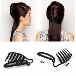 outils à cheveux diy en gros Promotion Gros femmes bricolage formel coiffure styling Updo Bun peigne et un outil Clip Set pour les cheveux français Twist Maker Holder disque outil