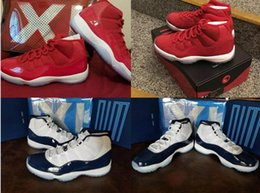 Wholesale Gym Rubber Bands - High Quality Air Retro 11 UNC Chicago Red Win Like 82 96 Basketball Shoes Gym Red Concord OG Slide box Michael Shoes Man Woman unisex size