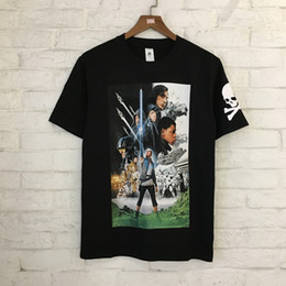 Wholesale Quality Poster Printing - 2018 new style summer High quality men and women's cotton round neck Short sleeve T-shirt Movie poster printing black and white M--XL