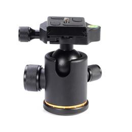 "Wholesale Quick Release Mount Plate - Photo Studio Photo Studio kits 12Kg Metal Swivel Camera Tripod Ball Head Rocker+1 4"" Screw Mount Quick Release Plate QR"