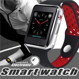 Reloj capacitivo online-Para Apple M3 Goophone reloj inteligente reloj inteligente 1.54 pulgadas LCD OGS Pantalla táctil capacitiva Ranura para tarjeta SIM Cámara para iphone PK DZ09 iwatch fitbit