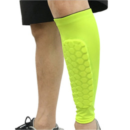 1 Pc Football Protège-tibias Protecteur Football Nid D'abeille Anti-crash Jambe Veau Compression Manches Vélo Running Shinguards ? partir de fabricateur