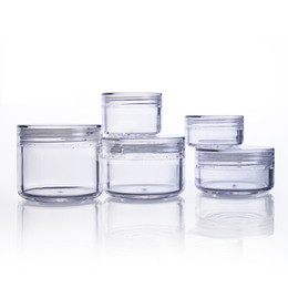 пластиковая косметическая баня Скидка 20pcs/lot Clear Cosmetic Cream Jars 3g 5g 10g 15g 20g Empty Cans for Eye Shadows Plastic Sample Containers Packaging Refillable