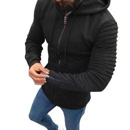 db6a063afc9f 2018 Frühling Herbst Männer Solid Zip Hooded Cardigan Jacke Männer Hoodies  Freizeitjacke Mantel Marke Kleidung Outwear lässig massive kapuzenjacke  Angebote