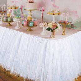 Wholesale Tutu Wedding Decorations - Wedding Party Tulle Tutu Table Skirt Birthday Baby Shower Wedding Table Decorations Diy Craft Supplies Hot Sale