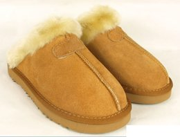 Wholesale Warm Slippers Women - 2018 new Classic slippers boots winter warm slipper for women Australia (winter slippers) us size 5-13.g