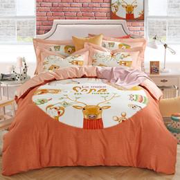 Tierdruckblätter könig online-PapaMima Viele Tiere print Bettwäsche Bettwäsche Baumwolle Bettwäscheset Königin König Größe flaches Blatt Kissenbezüge Bettbezug-Sets