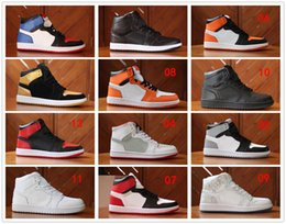 Wholesale Chocolate Paintings - Drop Shipping Wholesale Basketball Shoes Men Retro 1 Dan Sneakers New High Quality Cheap High Cut Outdoor Sports Shoes Size 8-13
