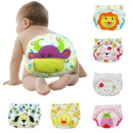 Wholesale Newborn Diaper Covers - Baby Diapers Newborns Urine training pp pants Reusable infant Panties kids underwear Baby Nappies C3443