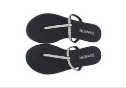Wholesale T Shaped Heels - 2016 Summer Bling Bling T Shape Flat Rubber Sandal Flip Flops Slippers Shoes 7 Color Slipper Beach Sandals For Women D781L