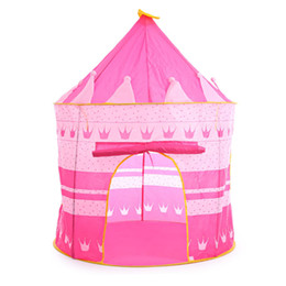 Wholesale Play Tent House - 3 Colors Kids Toy Tents Children Folding Play House Portable Outdoor Indoor Toy Tent Princess Prince Castle Cubby Playhut Gifts