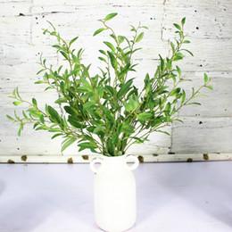 Wholesale Long Branches Artificial Flowers - 7pcs lot Simulation Olive Branch Artificial plant leaves Artificial flowers for Home Wedding Decoration 98cm Long