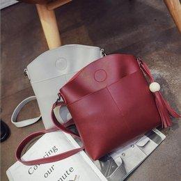 tassel leather handbag Australia - Top Quality Shoulder Bags Fashion Brand Female Chain Tassel Solid Handbags PU Leather Flap Totes Crossbody Bags