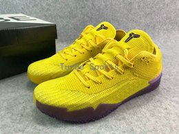 huge selection of 91b96 69b7d 2018 New Kobe A.D. NXT 360 React Yellow Strike Mamba Day White Multicolor Mens  Basketball Shoes for Top quality Sports Sneakers WithBox