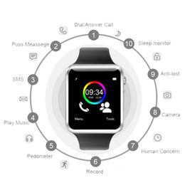 telefone móvel do relógio de pulso do androide Desconto A1 smart watch smartwatch bluetooth digital relógio de pulso esporte sim card inteligente do telefone móvel com câmera para ios android samsung