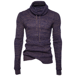Wholesale Cool Sweaters - Men's Sim Fit Turtle Neck Sweaters For Spring Autumn Cool Pullovers Clothing Wear for Male Casual Sweater