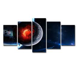 Canada Toile Mur Art Photos Cadre Home Decor 5 Pièces Cosmos Espace Galaxy Planète Peinture Salon HD Prints Abstrait Affiche Offre